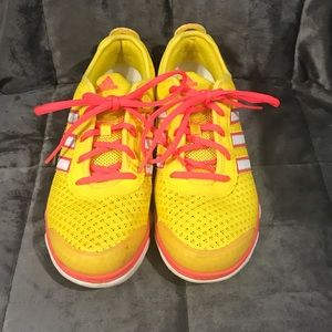 Bright yellow adidas